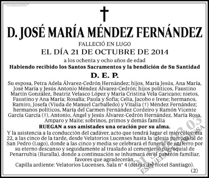 José María Méndez Fernández